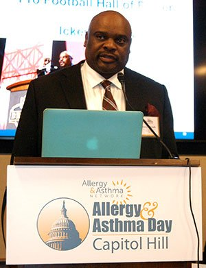 Ickey Woods at Allergy & Asthma Day on Capital Hill