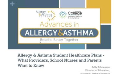 Allergy and Asthma Student Healthcare Plans (Recording)