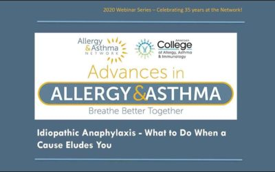 Idiopathic Anaphylaxis- What to Do When a Cause Eludes You