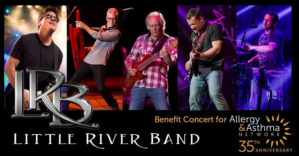 photo of the little river band members advertising a benefit show