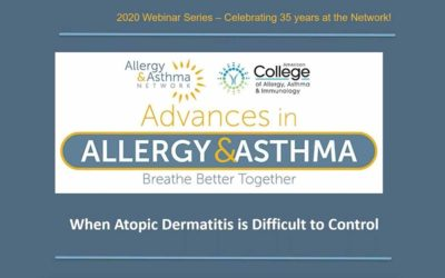 When Atopic Dermatitis (Eczema) is Difficult to Control