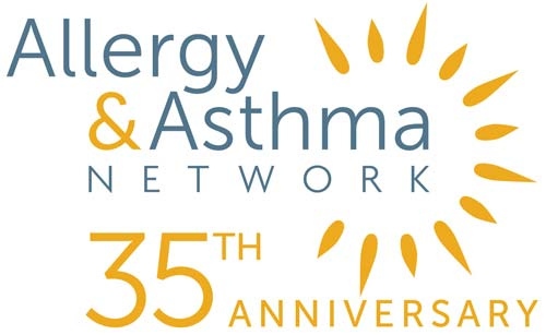Allergy Asthma Network Logo for 35th Anniversary