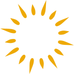 AAN Logo of Stylized Sun Rays