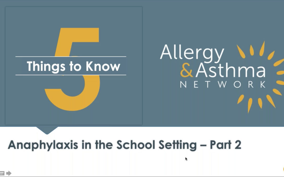 Anaphylaxis in Schools – Civil Rights & Care Plans (Recording and Resources)