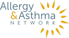 Allergy & Asthma Network Logo in Yellow and Blue