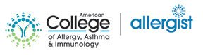 Logos for the ACAAI and ask the allergist program