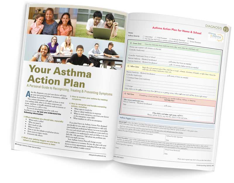 Asthma Action Plan downloadable form and instruction bookoadable Form &