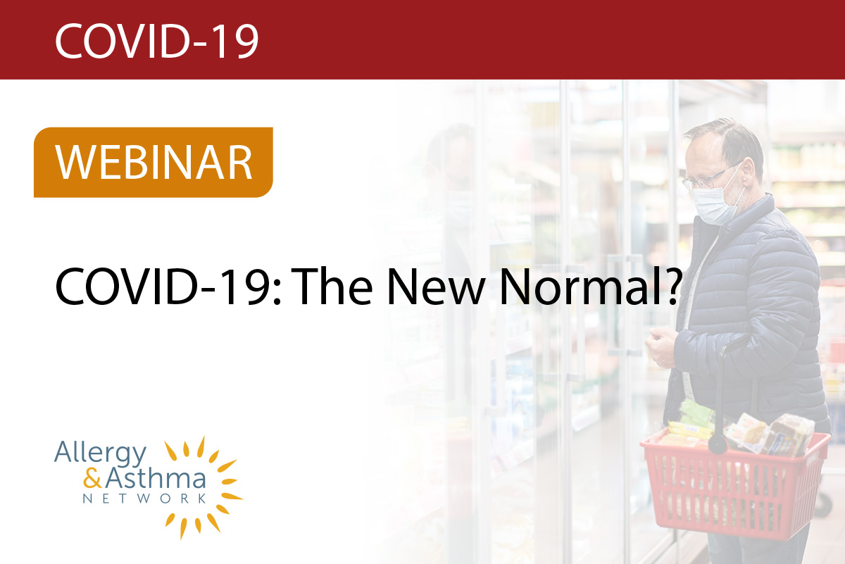Photo of man shopping with a face mask advertising our COVID -19 webinar series