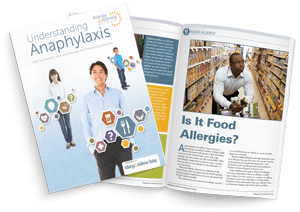 Understanding Allergies printed out and bound in magazine form