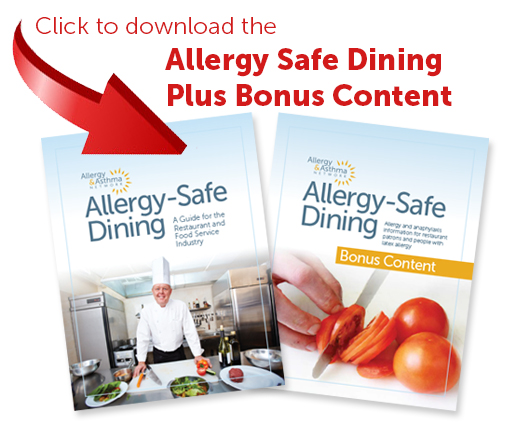 photo of allergy safe dining and bonus content magazine