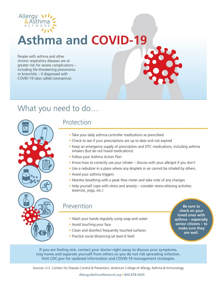 Covid and Asthma infosheet