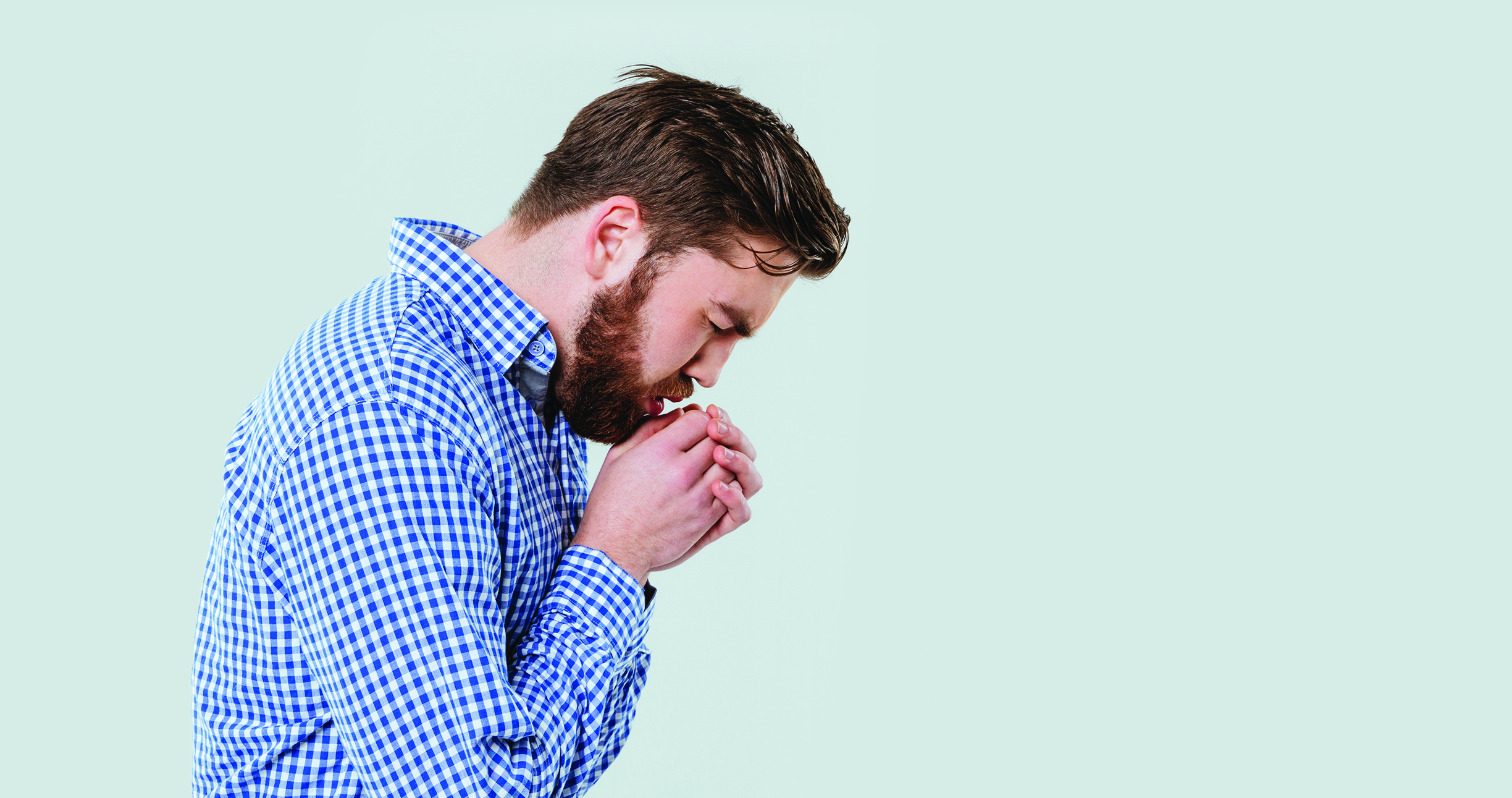 photo of man coughing