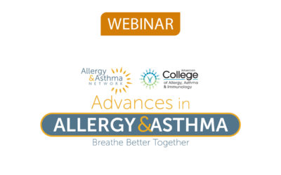 New Webinar: Coordinating Allergy Care Through the Life Span