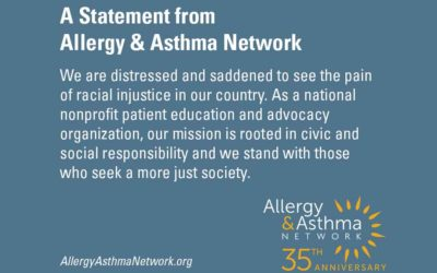 A Statement from Allergy & Asthma Network – Racial Injustice and Health Disparities