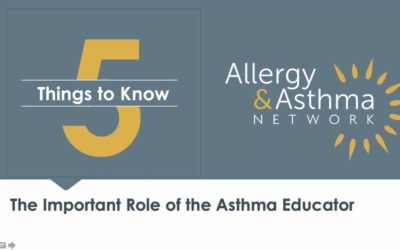 5 Things to Know – The Important Role of Asthma Educators (Recording)