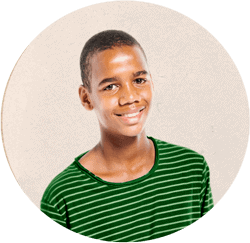 Image of male African American teen