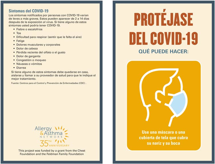 Protect yourself from Covid-19 Infographic Spanish