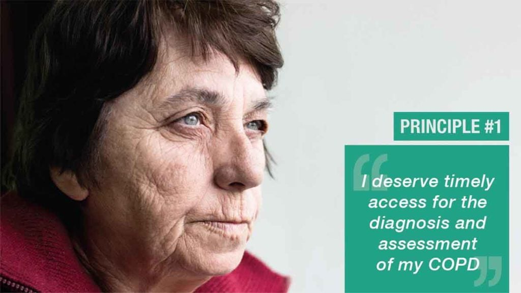 Photo of older woman with COPD Principle