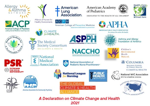 Logos from all of the sponsors of the 2021 declaration on Climate hange