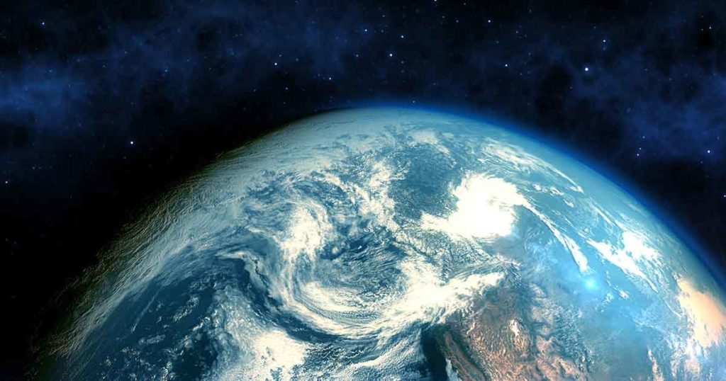 Photo of the earth from space close-up