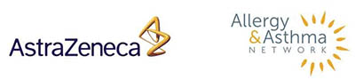 Photo of AstraZeneca and Allergy & Asthma Network logos
