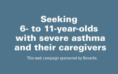 Seeking 6- to 11-Year-Olds with Severe Asthma and Their Caregivers
