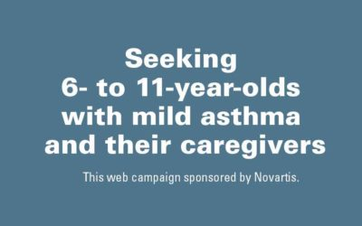 Seeking 6- to 11-Year-Olds with Mild Asthma and Their Caregivers
