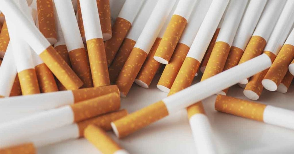 Photo of a pile of Cigarettes